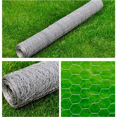 Galvanised Wire Netting Mesh Pet Poultry Fencing Chicken Coop 1mx25m 0.9 mm E2Z2