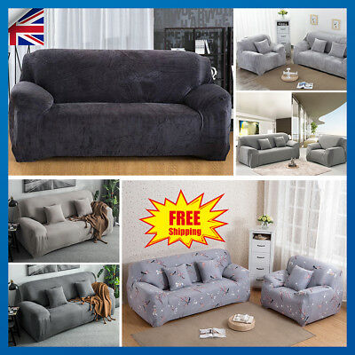 1/2/3/4 Seater Fit Sofa Couch Slipcover Stretch Covers Elastic Settee Protector