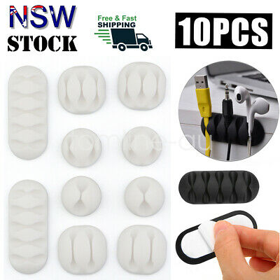 Cable Clips Adhesive New Cord Holder Wire Organizer 3M Ties Drop Line Management