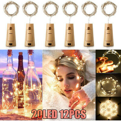 2M 20 LED Wine Bottle Cork Starry Fairy Strings Lights For Xmas Wedding Decor