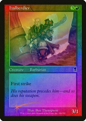 Halberdier FOIL Odyssey NM Red Common MAGIC THE GATHERING MTG CARD ABUGames