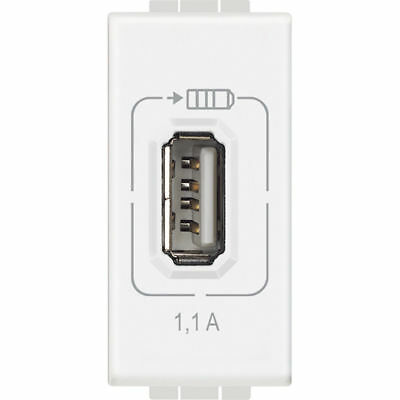 Bticino Living Light - Usb Caricatore Charger 1,1A Bianco Light N4285C1