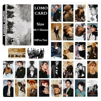 30Pcs/set KPOP EXO 5th Album DONT MESS UP MY TEMPO Posters PhotoCard Lomo Card
