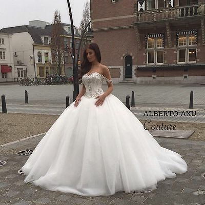 NEW WHITE IVORY WEDDING dress Bridal Gown custom size 4 6-8-10-12-14 ... 7d80a8e1834e