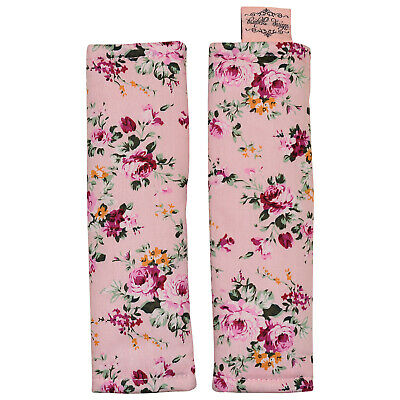 Bambella Designs Harness Strap Covers- Pink Flower