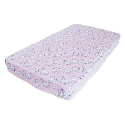 Bambella Designs Fitted Cot Sheet- Unicorns