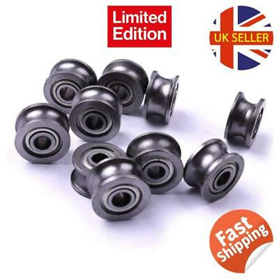 Atoplee 20pcs Metal Sealed Guide Wire Line Track 4 X 13 X 7mm Deep U Groove Pull