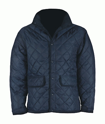 Fastrack Husky1: Quilted Jacket Diamond Quilt Wadding -Navy Size: Xs-5Xl Outwear