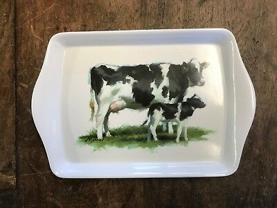 New Cow Calf Moo Small Sandwich Biscuit Cake Tray Leonardo Gift Christmas