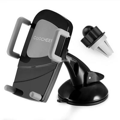 COOCHEER Air Vent Dashboard Windshiled Mount Car Smartphone Halter Mount IS6H 01