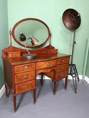An Antique Edwardian Mahogany String Inlaid Dressing Chest ~Delivery Available~