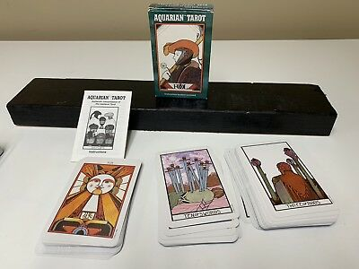 Vintage Aquarian Tarot Cards Deck David Palladini 1993 With Instructions