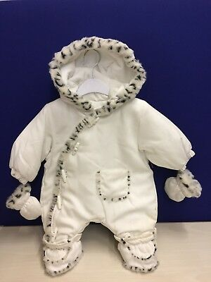 Baby Snowsuit With Mittens And Detachable Boots Rrp 35.00