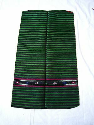 18C. Antique Apron Peasant Folk Costume Striped Ethnic Wool Fabric ~~Dobrodan,