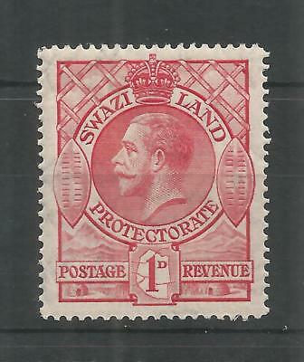 SWAZILAND 1933 GEORGE 5TH 1d CARMINE SG,12 M/MINT LOT 986B