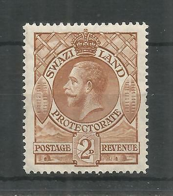 SWAZILAND 1933 GEORGE 5TH 2d BROWN SG,13 M/MINT LOT 987B
