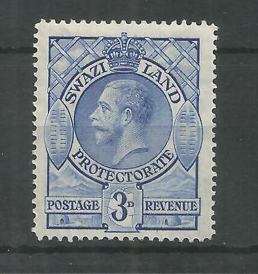 SWAZILAND 1933 GEORGE 5TH 3d BLUE SG,14 M/MINT LOT 988B