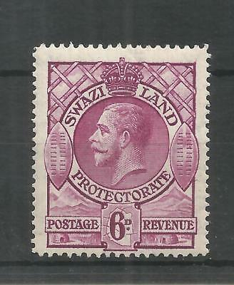 SWAZILAND 1933 GEORGE 5TH 6d BRIGHT PURPLE SG,16 M/MINT LOT 990B