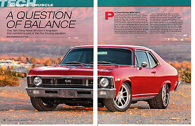 1968 Chevrolet Nova Ss Modified 376/525 Hp ~  Nice 6-Page Article / Ad