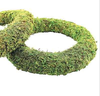 Moss Effect Ready Padded Wreath 30cm / 12 inch Dia - Great for Wreaths - 10 Pack