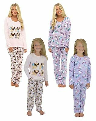 Ladies Girls Pyjama Set Animal Novelty Nightwear Gift