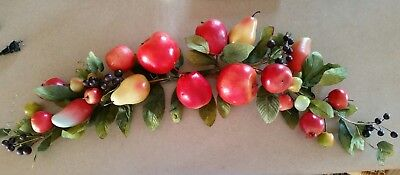 """Home interior """"Apples/Fruit"""" Harvest Large Wall Swag - Approx.40"""""""