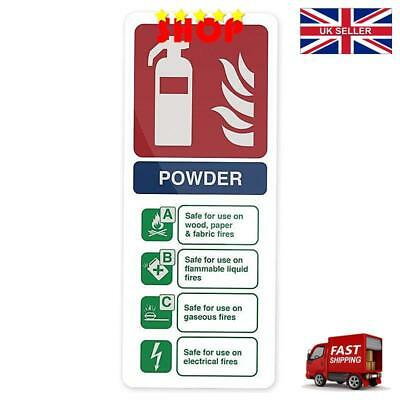 Fixman 350421 Glow-In-The-Dark Dry Powder Fire Extinguisher Sign 202 x 82mm