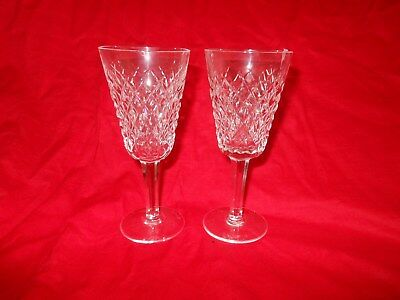 "Four ""Alana"" Waterford Crystal Sherry Glasses."