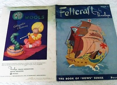 """ORIGINAL VINTAGE FELTCRAFT by PENELOPE BOOK No. 2 in the """"HOWS"""" series"""