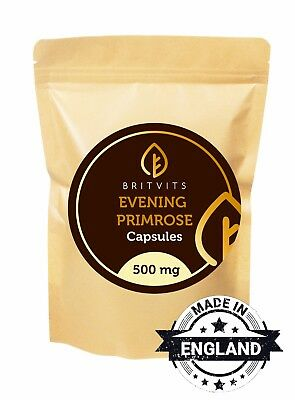 Evening Primrose Oil 500mg 30-60-90-120-180-250-500-1000 Capsules