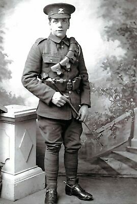 WW1 Reproduction Photo Postcard, Private in the Pembroke Yeomanry c1916 29J