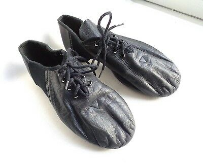 Capezio Black Lace Up Jazz Dance Shoes - US Size 7 1/2 - Great Condition