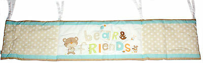 12 x BabyStart Bear and Friends Cot Bumpers - Natural (RRP £24.99 each)