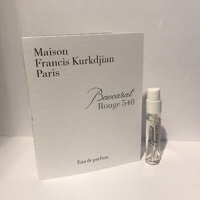 Maison Francis Kurkdjian Paris Baccarat Rouge 540 parfum sample 2ml