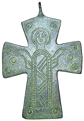 Byzantine Bronze Cross Pendant