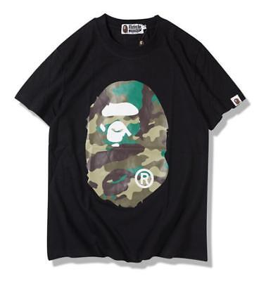 9258809e39e1 Fashion Men s Japan Bape Big Monkey icn 2018 A Bathing ape Cotton T-shirt M
