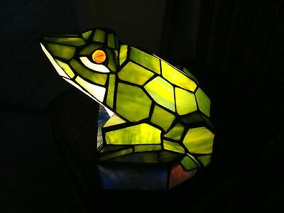 "Large Frog ornimental light   colored plastic very nicely done 13 "" long"