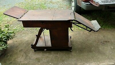 Antique Examination Medical Table Wood Exam W D Allison Co 4588