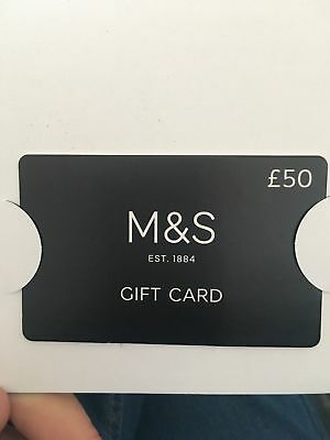 Gift card for M&S with £50 new