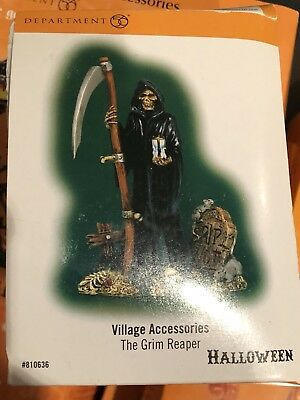 "Department 56 ~ Snow Village Halloween Accessory ""THE GRIM REAPER"" ~ SPOOKY!"