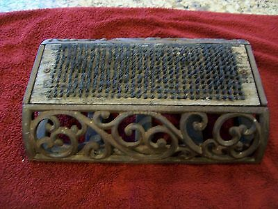 Vintage Victorian Style Cast Iron Boot Shoe Scraper & Brush