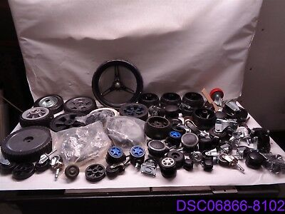Qty = 62: Casters and Wheels Mixed Lot Many Styles and Types New and Used