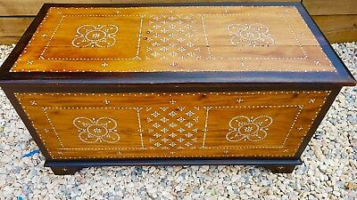Oriental Large Trunk/ coffer  Coffee table Mother of pearl inlaid beautiful