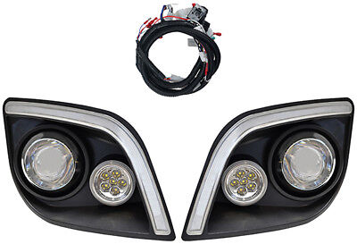 RHOX Golf Cart EZGO Express LED Headlights with RGBW Accents