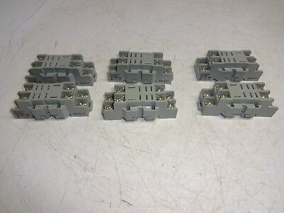Lot Of 6 Westinghouse Mps2Bst Relay Base 10Amp 600V