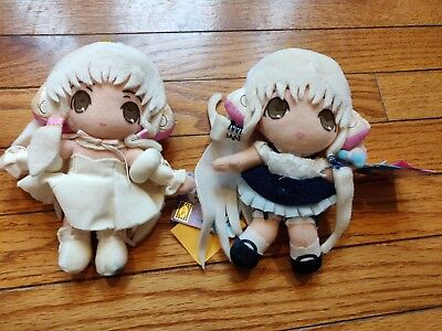 Chobits Plush Set Japan Lot Rare SHOWS WEAR Clamp Banpresto UFO Catcher Prize