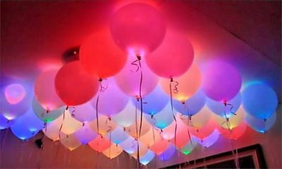 LED Balloons 40-80 Pack Light Up PERFECT PARTY Decoration Wedding Kids Birthday!