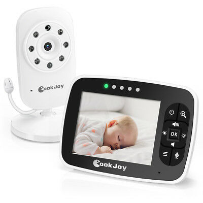 COOKJOY 3.5''LCD 2.4GHz Video Baby Monitor Camera IR Night Vision Two-Way Audio