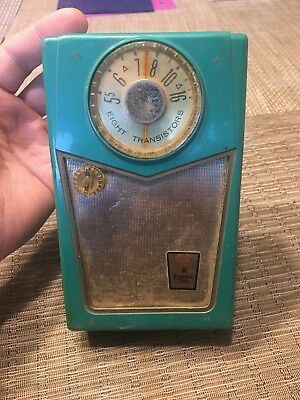 50's Vintage Emerson 888 Pioneer Nevabreak Pocket Transistor Radio Working