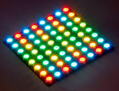 DIGI-DOT Panel 8x8HD mit 64 x RGB LED SK6812 mini  WS2812B kompatibel